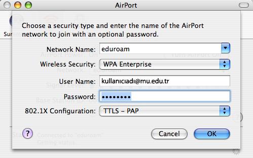 Configure Mac OS 10.3 or higher.